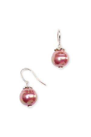Red Baroc Majorca Pearl Drop Earrings