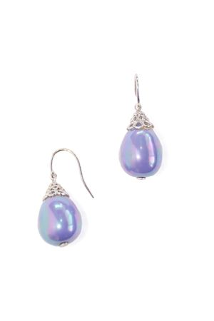 Lavender Cone Majorca Pearl Drop Earrings