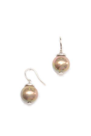 Glam Gold Pearl Drop Earrings