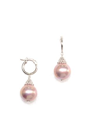 Iridescent Pearl Drop Earrings