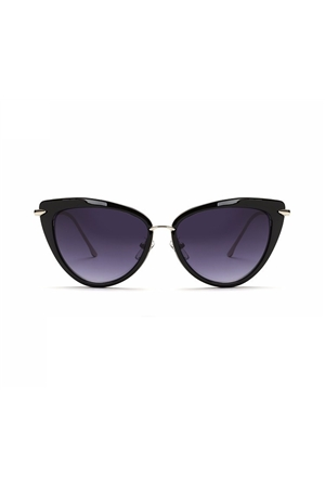 Black Shaded Cat Eye Sunglasses