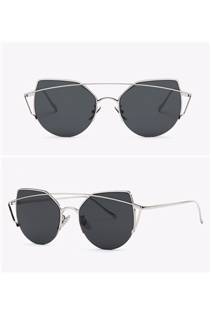 Black New Bridge Rim Sunglasses