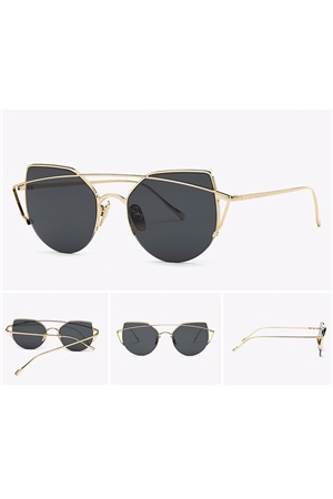 Black Gold New Bridge Rim Sunglasses