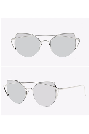 Silver New Bridge Rim Sunglasses