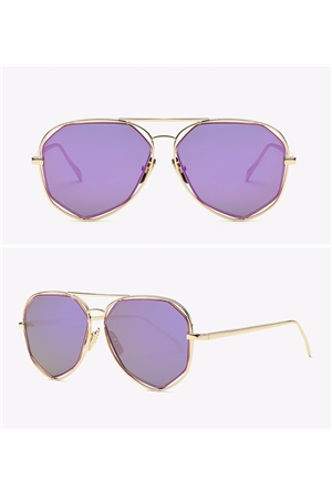 Purple Geometric Aviators Sunglasses