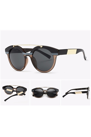 Black Twin Beams Frame Sunglasses