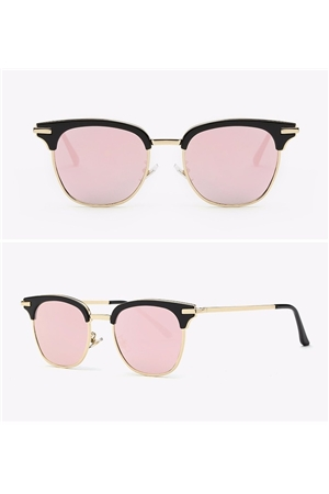 Pink Semi Rimless Club Master Sunglasses