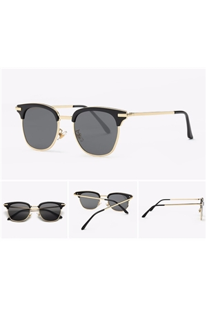 Black Semi Rimless Club Master Sunglasses