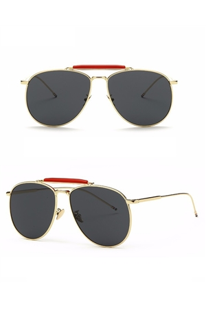 Black Oculos Aviators Sunglasses