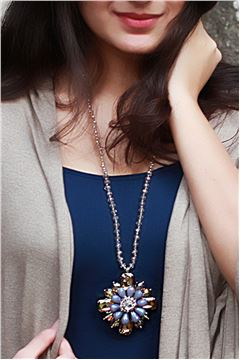 The Crystal Flower Priestess Pendant Necklace