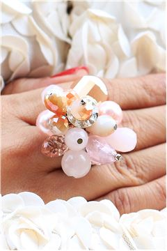 Flower Power Crystal Statement Ring