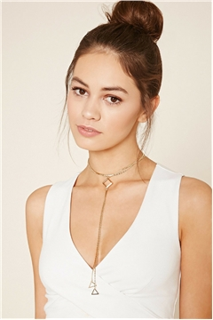 The Lyra Choker Triangular Gold Chain Necklace