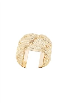 Woven Infinity Cuff Gold