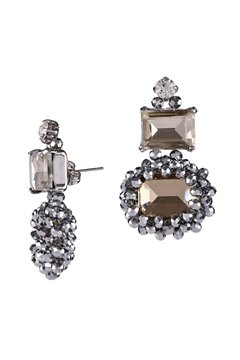Bittersweet Crystal Champagne Stud Earrings
