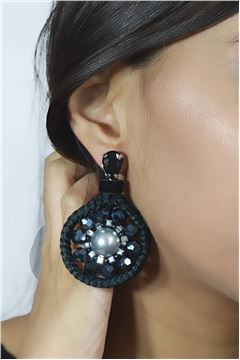 Black Beauty Pearl Statement Earrings