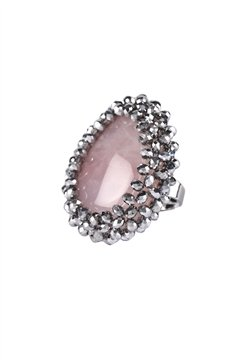 Dressed To Kill Crystal Ring