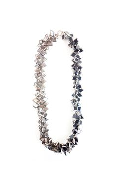 Satin Abyss Glass Silver Necklace