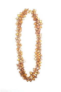 Gold Amber Glass Gold Necklace