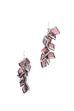 La Vi En Rose Silver Glass Earrings