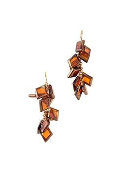 Marigold Gold Glass Earrings