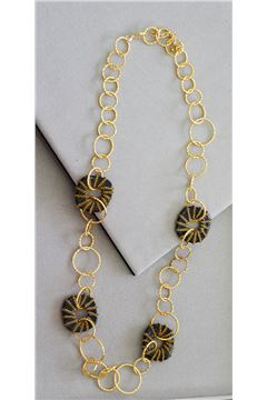 Perla Glass Hoop Necklace