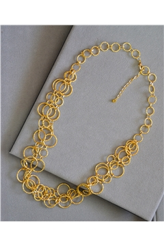 Claire Gold Rings Layered Long Necklace