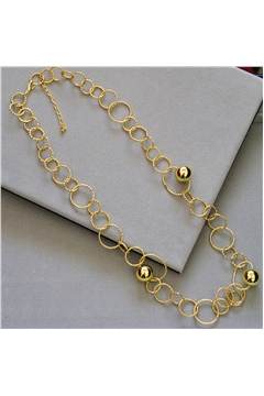 Adeline Gold Rings Long Necklace