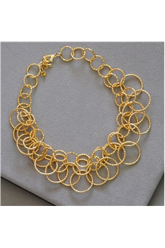 Skylar Gold Rings Choker Necklace