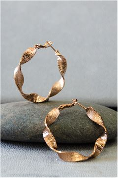 Avery Rose Gold Hoop earrings