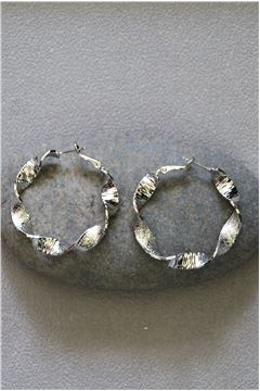 Charlotte Silver Hoop earrings
