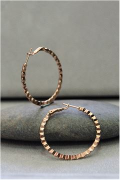 Zara Rose Gold Hoop Earrings