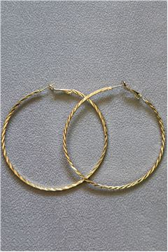 Aurora Gold Hoop Earrings