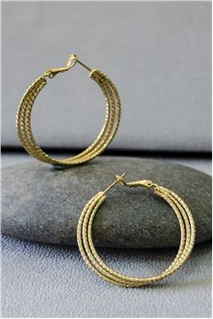 Ximena Gold Hoop Earrings