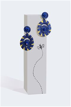 Iris Rain Drop Earrings