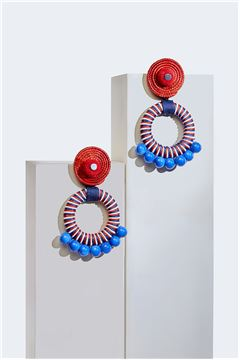 Gerbera Daisy Spiral Hoop Earrings