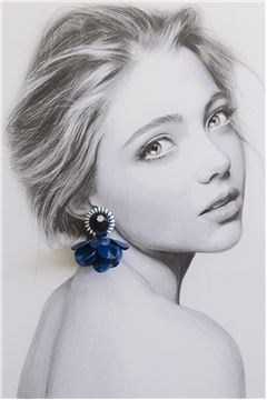 Sapphire Poppy Drop Earrings