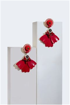 Cardinal Petalé Drop Earrings