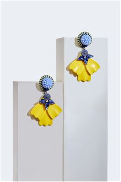 Soleil Primrose Petale Beachwear Drop Earrings