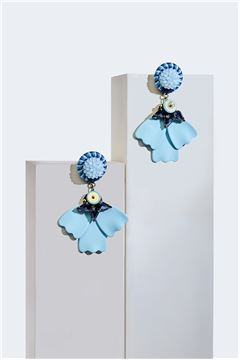 Turquoise Primrose Petale Beachwear Drop Earrings