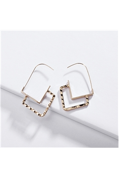 Sweet on Squares Gold Geometric Earrings