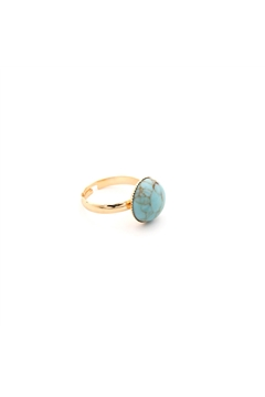 Turquoise Stone Marble Ring