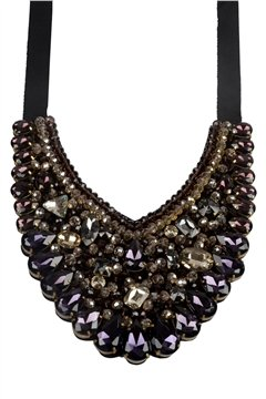 Let Me Be Your Ruler Amethyst Crystal Statement Bib Necklace