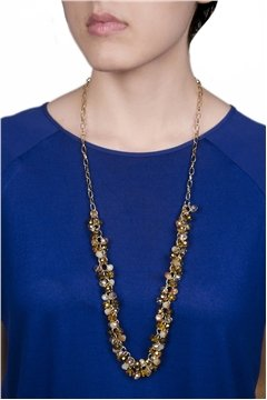 Champagne & Gold Beads Necklace