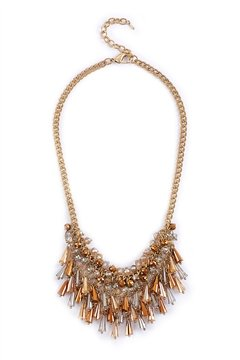 Champagne Tassel Necklace