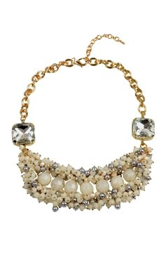 Ivory Beads Crystal Necklace