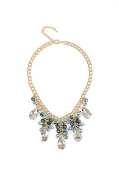 The Belly Dancer Blue Crystal Drop Necklace