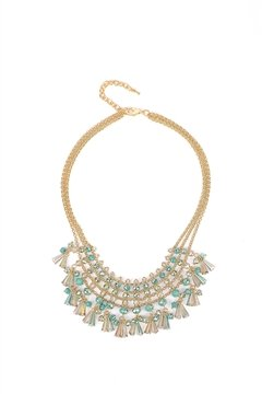 Sky Blue Fringe Necklace