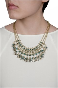 Electric Fringe Necklace