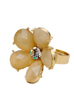 Princess Diaries Floral Glass Stone Ring