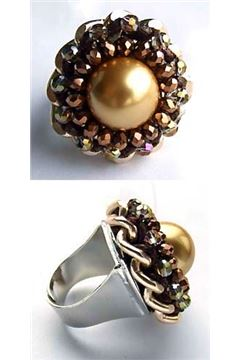 BROWN COCKTAIL RING